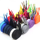 12mm FLAT WIDE SHOE LACES *31 COLOURS & 6 SIZES* TRAINERS SNEAKERS SKATE BOOT