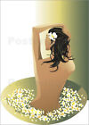 "Poster / Leinwandbild ""flower girl"" - illustration spa"