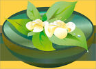 Poster / Leinwandbild flowers - illustration spa
