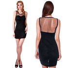 Donna Bella Sexy Sheath Lace Bodycon Evening Cocktail Clubbing Mini Party Dress