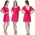 SALE Girls Summer Cape Empire Blouson Daywear Chiffon Tea Party Skater Sun Dress