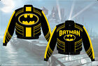 Batman Superhero Jacket Youth Kids Size Black Yellow Trim Cotton Twill