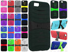 Apple iPhone 6 4.7 Hard Gel Rubber KICKSTAND Case Phone Cover +Screen Protector