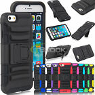 "For iPhone 6 + Plus 5.5"" Rugged Hybrid Case Hard Impact Cover+Belt Clip Holster"