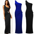 Womens Sexy One-Shoulder Formal Evening Wedding Cocktail Party Dresses Size 6-16