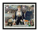 A Bar at the Folies-Bergere Edouard Manet Framed Wall Art Painting Repro Print