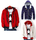 New Fashion Korean Men's Slim Fit Top Designed Hooded Hoodies Coats Jackets Tops