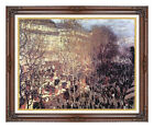 Framed Boulevard des Capucines Claude Monet Painting Repro Canvas Wall Art Print