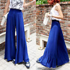 Women Summer Chiffon Loose Wide Leg Pants Dress Pants Conjoined Culottes K98