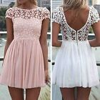Sexy Womens Ladies Lace Chiffon Party Evening Summer Evening Beach Club Dress