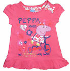 Peppa Pig Girls Short Sleeved T shirt 18-24m and 2-3 Years Exstore