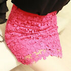 NEW Women's Sexy High Waist Stretch OL Bodycon Short Mini Lace Skirt 3 Color