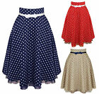 Friday On My Mind Deanna Polka Dot Vintage Retro 40S 50S Pinup Party Swing Skirt