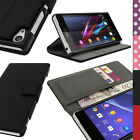 PU Leather Skin Card Wallet Case for Sony Xperia Z2 D6503 Flip Stand Book Cover