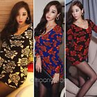 Fashion Sexy Women Knitted V neck Bodycon Evening Cocktail Party Club Mini Dress