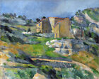 "Poster / Leinwandbild ""Houses in the Provence: The Riaux Valley..."" - P. Cézanne"