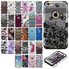 For Apple iPhone 6 4.7 IMPACT TUFF HYBRID Case Skin Phone Covers +Screen Guard