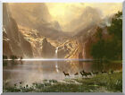 Stretched Art Print Sierra Nevada Mountains in California Albert Bierstadt Repro