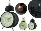 Classic Style Single Bell Metal 10cm Analog Alarm Clock with Light Roman Numeral