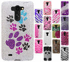 For LG G Vista VS880 Crystal Diamond BLING Protector Hard Case Cover Accessory