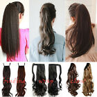 Uk Deluxe 1piece clip in ponytail hair extensions piece Wrap Around Pony tail K8
