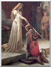 The Accolade by Edmund Blair Leighton Painting Repro Stretched Canvas Art Print