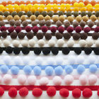 Decorative Edge Jumbo Pom Pom Trim - All 14 Colours (Per Metre) Excellent Qualit