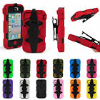 New Shockproof Silicon Hard Case Cover With Belt Clip For iphone 4G/4S 12Colors