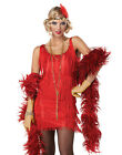 Womens Red 20'S Fashion Flapper Showgirl Adult Halloween Costume Outfit S-XL