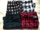 NWT NAUTICA MEN'S POLYESTER SLEEPWEAR SLEEP PANTS PLAID FLEECE PAJAMAS SZ M L XL