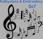 Musical Notes - Machine Embroidery Designs Set of 10 On CD - 5x7 Hoop