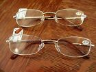 NWT Mens GOLD WIRE RIM READING GLASSES +1.50 or +2.00 strength readers