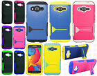 For T-Mobile Samsung Galaxy Avant Hybrid Skin Case KickStand Cover +Screen Guard