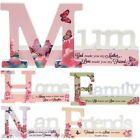 MIRROR EFFECT REFLECTION WORD PLAQUE MESSAGE GIFT HOME DECOR XMAS MANTEL PRESENT