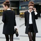 New Women Korean Woolen Coat Overcoat Long Slim Trench Jacket Cardigan Parka -CB