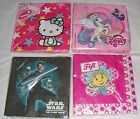 Childrens Party Serviettes Assorted Characters 1 x 12 /16 /20 Pk New