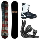 New 2015 Camp7 Drifter + Flow MTN Bindings + APX Boots Men's Snowboard Package