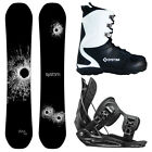 New 2015 System DNR + Flow Flite Bindings + APX Boots Men's Snowboard Package