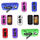 For Kyocera Hydro Icon / Hydro Life - Rugged Kickstand Hybrid Phone Cover Case