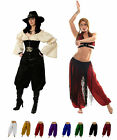 RENAISSANCE DRESS-UP BELLY DANCE COSTUME TRIBAL PANTALOONS HAREM PIRATE PANTS