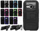 HTC One Remix Combo Holster HYBRID KICK STAND Rubber Case Phone Cover Accessory