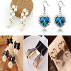 2014 New Fashion Elegant Charm Pearl Bow Rhinestone Multi-Style Earring Stud