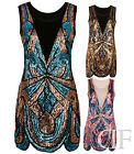 NEW LADIES WOMEN SEQUIN BEADED SCALLOP DETAIL 1920'S MOSAIC DRESS (SIZES 8-16)