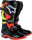 Alpinestars Tech 10 Adult Offroad Boots Black/Red/Yellow Size 7-14
