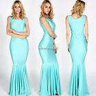 Women Sleeveless Sexy Mermaid Cocktail Party Evening Prom Wedding Maxi Dress