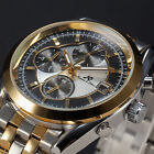 KS Navigator Luxury Mens Stainless Steel Date Day Automatic Mechanical Watch