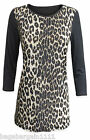 NEW WALLIS BLACK BROWN GOLD SPARKLY ANIMAL PRINT TUNIC TOP BLOUSE PARTY EVENING