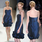 Donna Bella Formal Wedding Bridesmaid Ruffle Hem Sweetheart Taffeta Dress