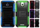 HTC Desire 510 Combo Holster HYBRID KICK STAND Rubber Case Cover + Screen Guard