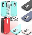 For LG Phoenix 3 Shockproof Sleek Hybrid Impact Dual Layered Case Phone Cover